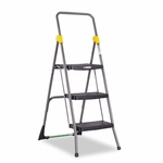 Cosco® Commercial 2-Step Folding Stool - 300lb Cap - 20 1/2w x 24 3/4d x 39 1/2h - Gray [CSC11829GGB-FS-NAT]
