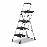 Cosco® Max Work Steel Platform Ladder - 22w x 31d x 55h - 3-Step - Black [CSC11880PBLW1-FS-NAT]