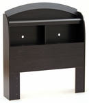 Cosmos Collection Twin Bookcase Headboard (39'') Black Onyx [3127098-FS-SS]