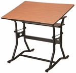 CraftMaster III Drafting, Drawing, and Art Table with Woodgrain [CM50-3-WBR-FS-ALV]