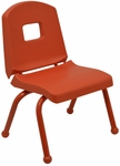 Split Bucket Stacking Chair with 10''H Seat and Ball Glides - Autumn Orange - 16.75''W x 12.5''D x 22''H [10CHRB-AO-AO-MHR]