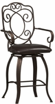 Crested Back 24''H Swivel Counter Stool [02786MTL-01-KD-U-FS-LIN]