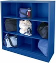 46'' W x 18'' D x 52'' H Cubby Storage Organizer with Nine Sections - Blue