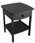 Curved End Table with One Drawer [20218-FS-WWT]
