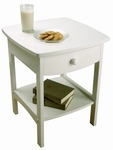 Curved Night Stand with One Drawer [10218-FS-WWT]
