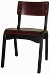 Custom Carlo Armless Stacking Guest Chair - Wood Seat [CARLO-STACKING-CHAIR-C-FS-HSAG]