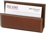 Rustic Leather Business Card Holder - Brown [A3207-FS-DAC]