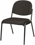 Dakota 19.3'' W x 18.5'' D x 31'' H Armless Side Chair - Black [8014-AT33-FS-EURO]