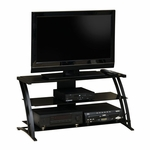 Select Collection 41.875''W TV Stand with Glass Shelves - Black [408559-FS-SRTA]
