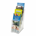 Deflect-O 4 Tier Literature Holder - Leaflet - 4 7/8'' x 1'' x 12'' - Clear [DEF77701-FS-SP]