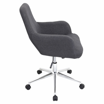 Fully Adjustable Office Chair office chairs fabric degree fully adjustable grey swivel chair