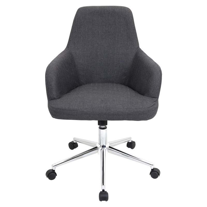 degree fully adjustable grey fabric swivel office chair, ofc-ac