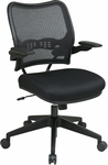Space Deluxe Air Grid Back Task Chair with Mesh Seat and Cantilever Arms - Black [13-37N1P3-FS-OS]