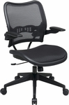 Space Deluxe Air Grid Seat and Back Task Chair with 2-to-1 Synchro Tilt and Cantilever Arms - Black [13-77N1P3-FS-OS]