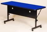 Adjustable Height Rectangular Deluxe High-Pressure Flip Top Table - 24''D x 48''W [FT2448-CRL]