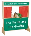 Deluxe Puppet Theater with Marquis on Top and Message Board on Lower Panel - 47''W x 7.19-18''D x 48''H [21650-WDD]