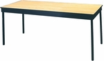 Deluxe Series Rectangular Conference Table with Vinyl Flush Edge and Laminate Top - 18''W x 48''D x 30''H [DLDEL1848-VFE-MFC]