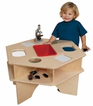 Deluxe Six-Sided Healthy Kids Plywood Science Activity Table with Tuff-Gloss UV Finish - 27''W x 30''D x 20''H [93021-WDD]