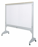 Deluxe Series Revolving Two-Sided Mobile Board - LCS Markerboard - 60''W x 75.5''H [146BL-CLA]