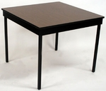 Deluxe Series 36'' Square Conference Table with Vinyl Flush Edge and Laminate Top [DLDEL36SQ-VFE-MFC]