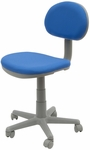 Deluxe Height Adjustable Task Chair with 5 Star Base and Casters - Blue and Gray [18519-FS-SDI]