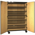 Denali 1000 Series Mobile General Storage Cabinet w/ Doors,  4 Adjustable Shelve,  & 1 Fixed Shelf [1041-CL-IRO]