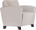 Dialogue Lounge Chair with Upholstered Arms and Wood Feet - Grade 2 Fabric [DIA10UA-GRD2-FS-LZBF]