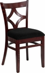 Diamond Back Side Chair in Dark Mahogany Wood Finish [HTG-001-42-DKMHG-HC]