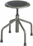 Diesel 16'' H Adjustable Height Industrial Low Base Drafting Stool without Back - Pewter [6669-FS-SAF]