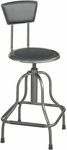 Diesel 22'' H Adjustable Height Industrial High Base Drafting Stool with Back - Pewter [6664-FS-SAF]