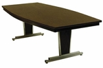 Customizable Boat-Shaped Director Conference Table - 36''W x 72''D x 30''H [VR-221-E-BKS]