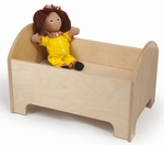 Birch Laminate Doll Bed with Natural UV Finish [WB0246-FS-WBR]