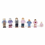 Wooden Doll Family with Seven Family Members - Caucasian [65202-FS-KK]