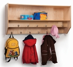 Double Row Wall Mounted Birch Laminate Coat Rack with 12 Hooks [WB1056-FS-WBR]