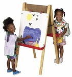 Double Sided Chalk and Dry Erase Boards Easel with Height Adjustable Legs [ELR-008-ECR]