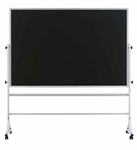 Double-Sided Composition Chalkboard with Aluminum Trim - 36''H x 48''W [RA-34A-MSH]