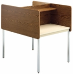 Double-Sided Fixed Height Starter Study Carrel - 37''W x 48''D x 46''H [01627-SCI]