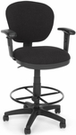 Lite Use Computer Task Chair with Arms and Drafting Kit - Black [150-AA-DK-126-FS-MFO]