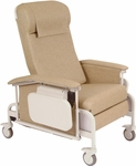 Drop Arm Care Recliner with Nylon Casters [6550-FS-WIN]