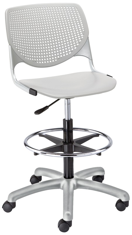 DS2300 KOOL Series Poly Armless Task Stool with Perforated Back