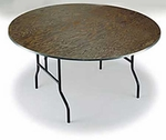 E Series Lightweight Plywood Core 42'' Diameter Round Folding Table - 30''H [R42E-MFT]