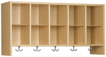 Eco ™ 21.5''H Wall Mounted Cubby Locker with 5 Double Coat Hooks [3068A73-TOT]