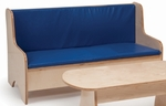 Comfortable Birch Laminate Economy Sofa with Blue Back and Seat Cushions [WB8081-FS-WBR]