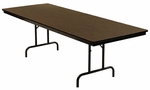 Customizable Economy 100 Series Fixed Height General Use Table - 18''W x 60''D x 30''H [100-1P-BKS]