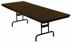 Customizable Economy 110 Series Adjustable Height General Use Table - 18''W x 60''D x 23-30''H [110-1P-BKS]