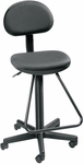 Economy Height Adjustable Drafting Chair - Black [DC204-FS-ALV]