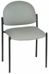 Economy Side Chair with Black epoxy Steel Frame - 17''W X 18''L X [HAU-2159-FS-HAUS]