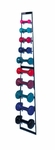 Economy Wall Dumbbell Rack with Set of 10 Dumbbells - 10''W X 3.5''L X 55.25''H [HAU-5555-100-FS-HAUS]
