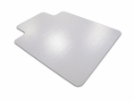 48''W x 51''L Ecotex Enhanced Polymer Rectangular with Lip Shaped Chairmat for Standard Pile Carpets [ECO114851LP-FS-FTX]