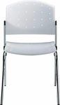 Eddy 4-Post Chrome Stack Side Chair [ED4000-000-FS-DV]